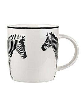 Catherine Lansfield Zebra Black Mug