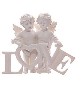 Decorative Pair of LOVE Cherubs