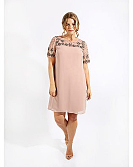 Lovedrobe Luxe Mauve Sequin Shift Dress