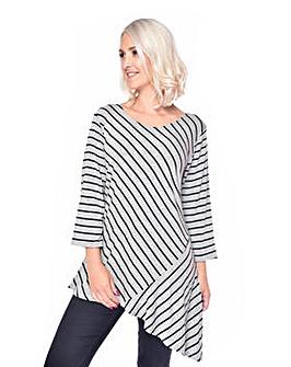 Grace a symmetric striped tunic