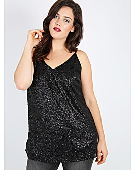 Lovedrobe GB black sequin cami