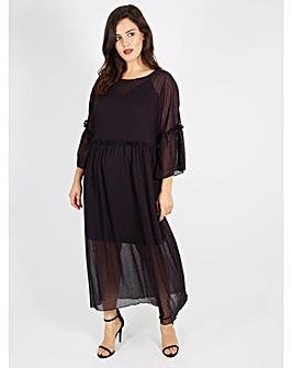 Lovedrobe GB purple Spot Print dress