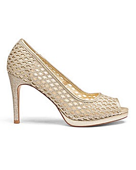 Heavenly Soles Glitter Peep Toe E Fit