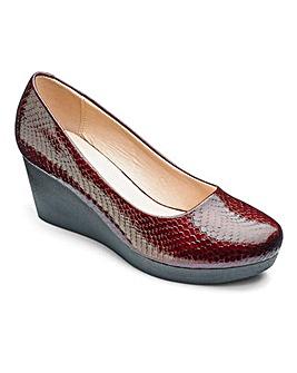 Heavenly Soles Wedge Shoes EEE Fit