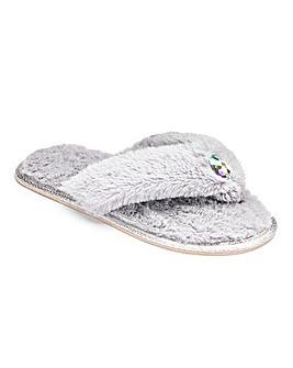 Heavenly Soles Jewel Toe Post Slippers
