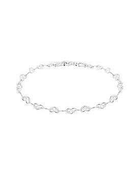 Sterling Silver Heart Link Bracelet