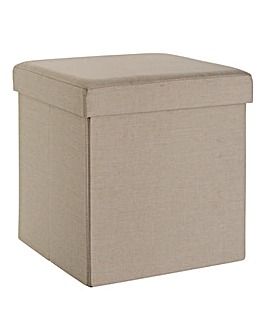 Fabric Storage Seat Square Natural