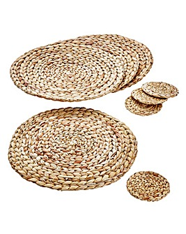 Water Hyacinth Round Coasters Placemats