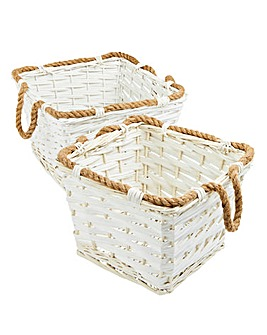 Split Willow Baskets with Handles
