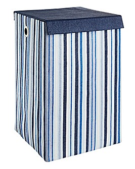 Oslo Stripe Foldable Laundry Basket