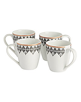 Portmeirion Arabian Lights Set of 4 Mugs