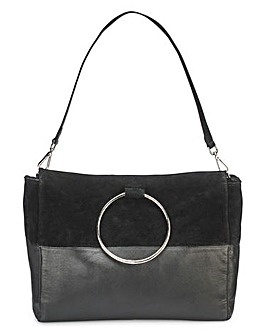 Leather Ring Detail Tote Bag