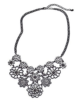 Floral Rhinestone Collar