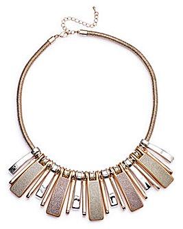 Glitter Statement Piano Collar Necklace