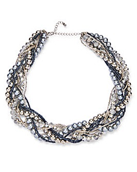 Joanna Hope Faux Pearl Twist Collar