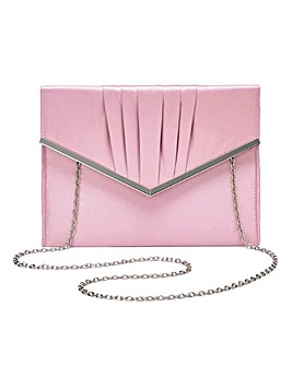 Sophie Pale Pink Clutch Bag
