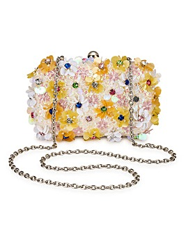 Floral Embrllished Clutch Bag
