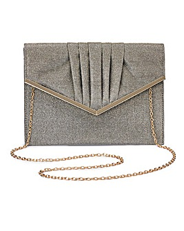 Sophie Gold Niscose Clutch Bag