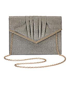 Sophie Gold Niscose Clutch Bag