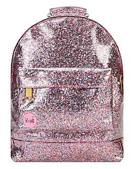 MI PAC PINK GLITTER MINI BACKPACK