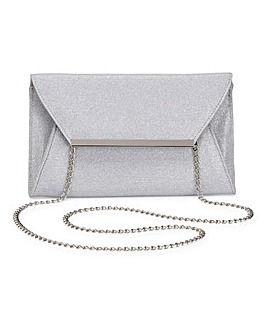 Embellished Structured Clutch Bag