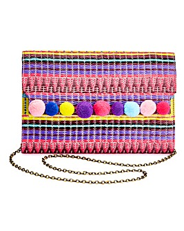 Pom Pom Clutch Bag