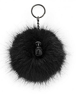 Kipling Furry Pom Pom Monkey Key Ring