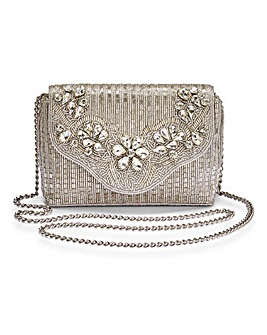 Dune Ekko Embellished Clutch Bag