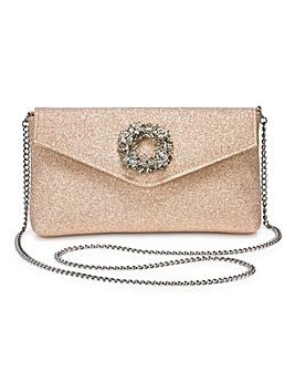 Dune Breed Brooch Trim Clutch Bag