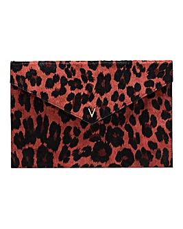 Violeta By Mango Leopard Clutch Bag