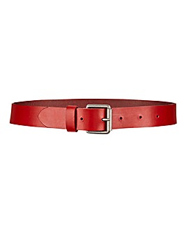 Red Leather Jeans Belt