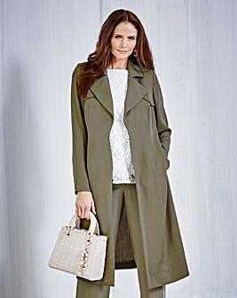 JOANNA HOPE Tencel Longline Jacket
