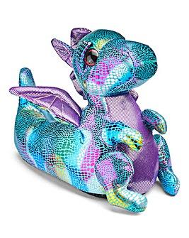 KD Metallic 3D Dinosaur Slippers