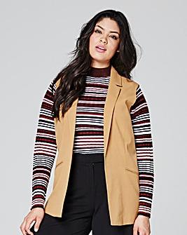 Sleeveless Tailored Jacket