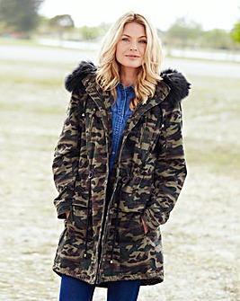 Camouflage Cotton Parka