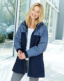Navy Gingham 3-in-1 Jacket