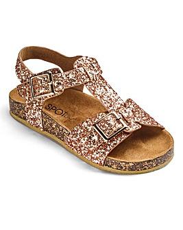 Glitter Buckle Strap Sandals