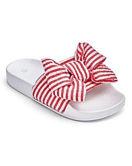Pink Stripe Slider Sandal