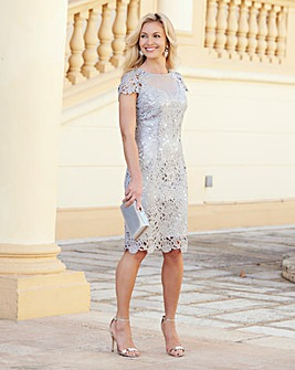 JOANNA HOPE Short Sleeve Lace Dress