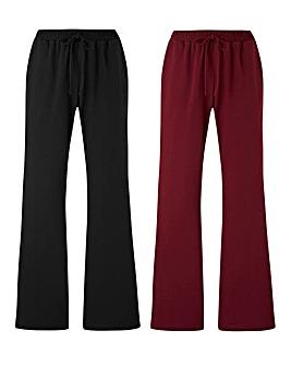 Pk2 Jersey Bootcut Trousers Regular