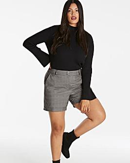 Metallic Check Shorts