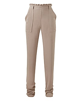 Paperbag Waist Ruched Leg Tapered Trs