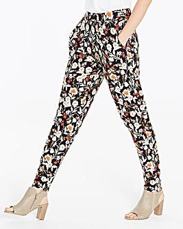 Floral Print Jersey Harem Trousers Reg