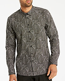 Black Label Dark Paisley Shirt Reg