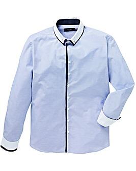 Black Label LS Gingham Trim Shirt R