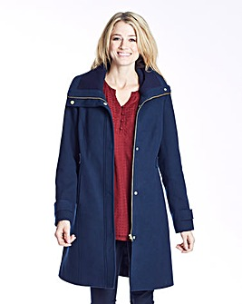 Knitted Collar Coat