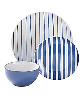 Nautical Stripe 12-Piece Dinner Set