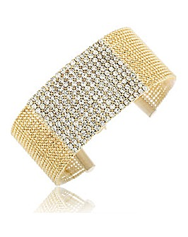 Crystal Glitz Gold Plated Ball Chain