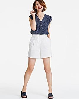 Belted Slouch Linen Short