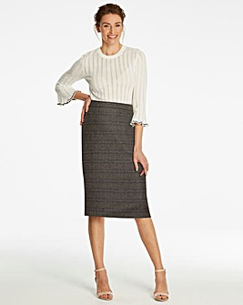 Check Pencil Skirt